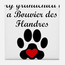 Bouvier des Flandres Grandchild Tile Coaster