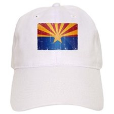 Arizona Flag Distressed Baseball Baseball Cap