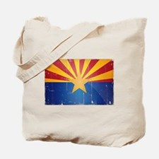 Arizona Flag Distressed Tote Bag