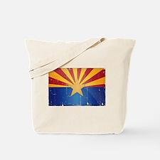 Arizona Flag Distressed Tote Bag