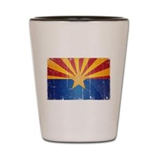 Arizona Flag Distressed Shot Glass