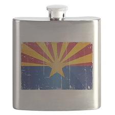 Arizona Flag Distressed Flask