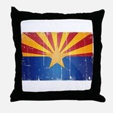 Arizona Flag Distressed Throw Pillow