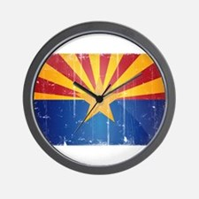Arizona Flag Distressed Wall Clock