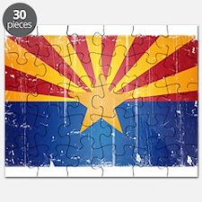 Arizona Flag Distressed Puzzle
