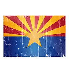 Arizona Flag Distressed Postcards (Package of 8)