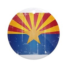 Arizona Flag Distressed Ornament (Round)
