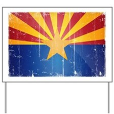 Arizona Flag Distressed Yard Sign