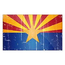 Arizona Flag Distressed Decal