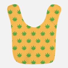 Pot Weed High Hippie 420 Gold Bib