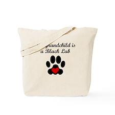 Black Lab Grandchild Tote Bag