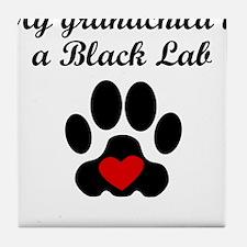 Black Lab Grandchild Tile Coaster
