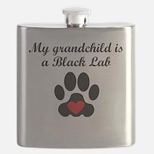 Black Lab Grandchild Flask