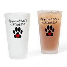 Black Lab Grandchild Drinking Glass