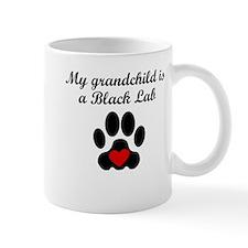 Black Lab Grandchild Mugs