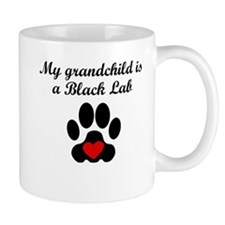 Black Lab Grandchild Mugs