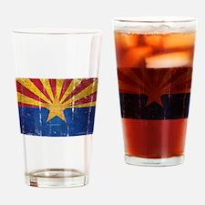 Arizona Flag Distressed Drinking Glass
