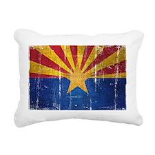 Arizona Flag Distressed Rectangular Canvas Pillow