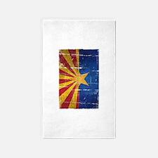 Arizona Flag Distressed 3'x5' Area Rug