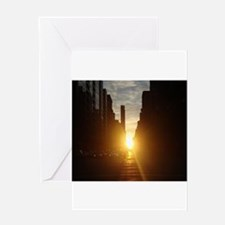 Manhattanhenge Greeting Cards
