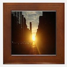Manhattanhenge Framed Tile
