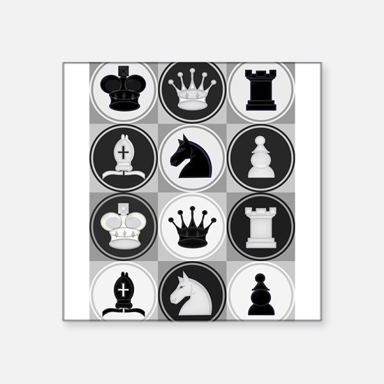 Chessboard Pattern Sticker