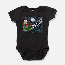 Santa Dachshund Baby Bodysuit
