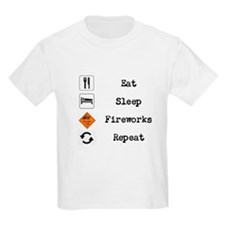 Eat, Sleep, Fireworks, Repeat T-Shirt