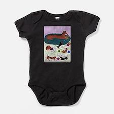 Knitting Dachshund Baby Bodysuit