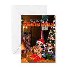 Sexy Vixen Merry Xmas Greeting Cards