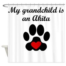 Akita Grandchild Shower Curtain