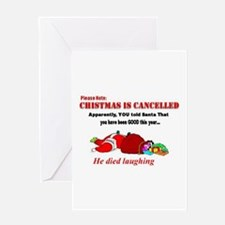 Christmas canceled Greeting Cards