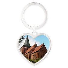 Church of Berkenthin Heart Keychain