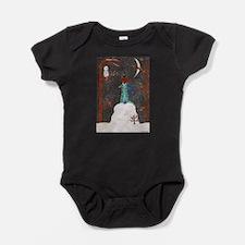Snow Dachshund Baby Bodysuit