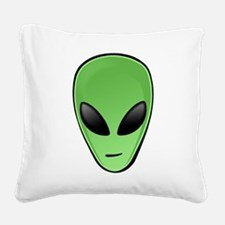 Alien Head Square Canvas Pillow