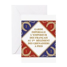 Napoleon's Guard flag Greeting Cards