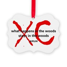 XC Cross Country Threat Ornament