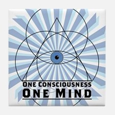 3rd Eye - One Consciousness One Mind Tile Coaster