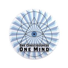"""3rd Eye - One Consciousness One Mind 3.5"""" Button"""