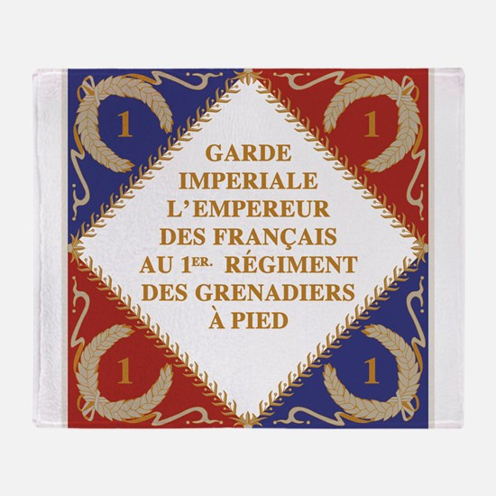 Napoleon's Guard flag Throw Blanket