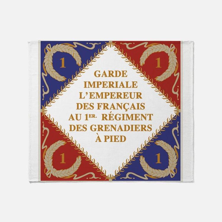 Napoleon's Guard flag Throw Blanket