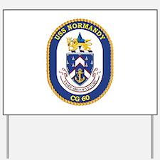 USS Normandy (CG-60) Yard Sign