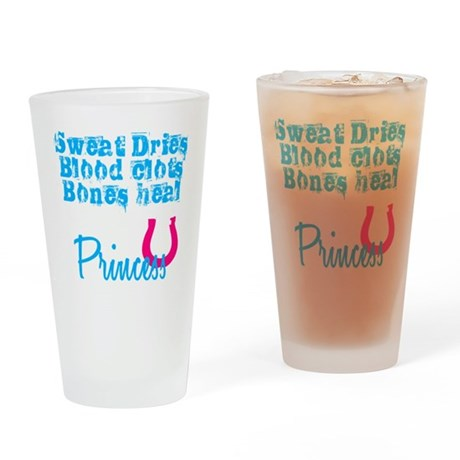 Cowgirl Up Princess Drinking Glass