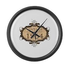 1964 Birth Year (Rustic) Large Wall Clock