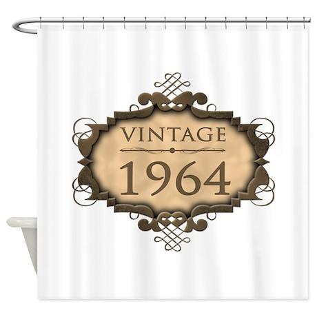 1964 Birth Year (Rustic) Shower Curtain