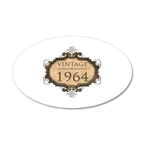 1964 Birth Year (Rustic) 35x21 Oval Wall Decal