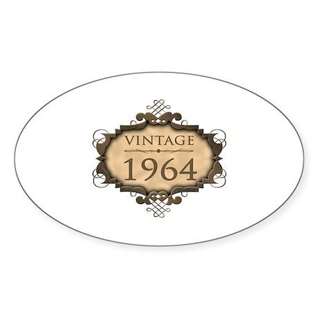 1964 Birth Year (Rustic) Sticker (Oval)