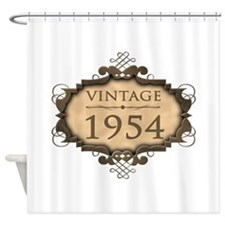 1954 Birth Year (Rustic) Shower Curtain