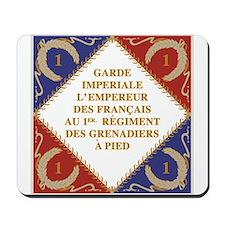 Napoleon's Guard flag Mousepad
