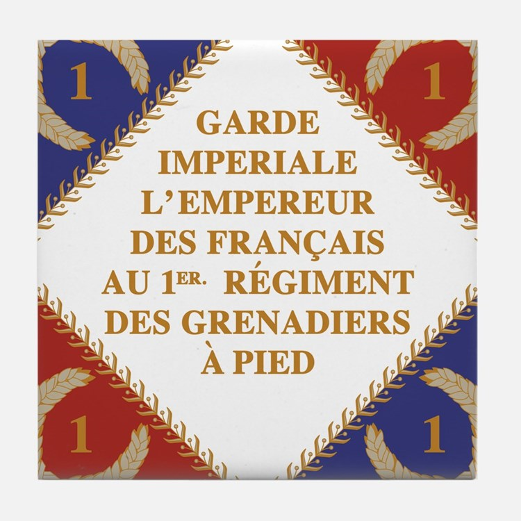 Napoleon's Guard flag Tile Coaster